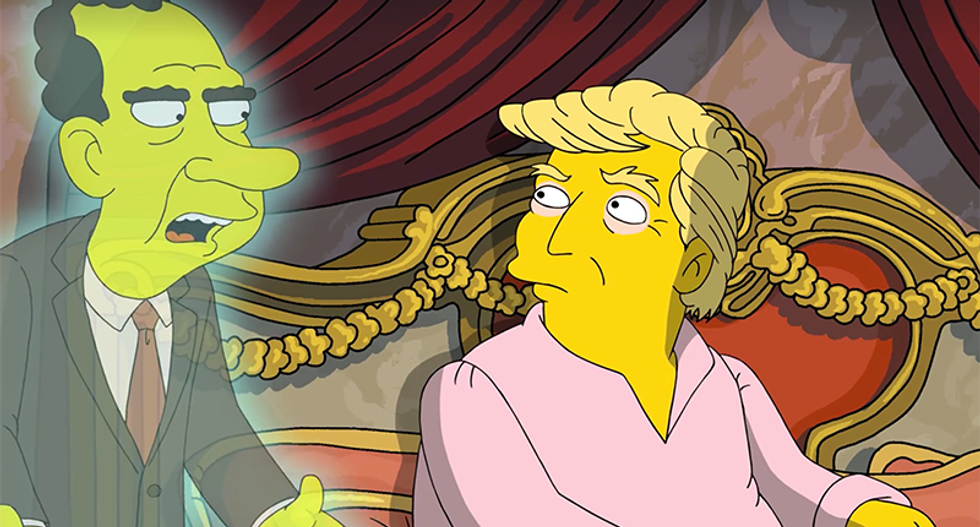 'If you have tapes, burn 'em': Nixon's ghost offers Trump advice in hilarious Simpsons short
