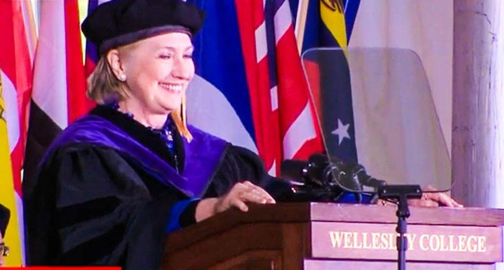 WATCH: Wellesley grads erupt in cheers when Hillary Clinton cites Nixon's impeachment to bash Trump