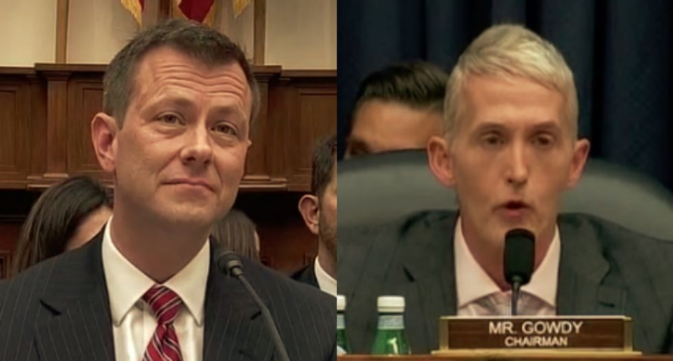 Watch Peter Strzok get in Trey Gowdy's face AGAIN and explain how real investigations are run
