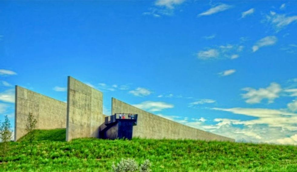 Trump's 9/11 visit to 'gorgeous' Flight 93 Memorial Wall has inspired him to push harder for Mexico wall