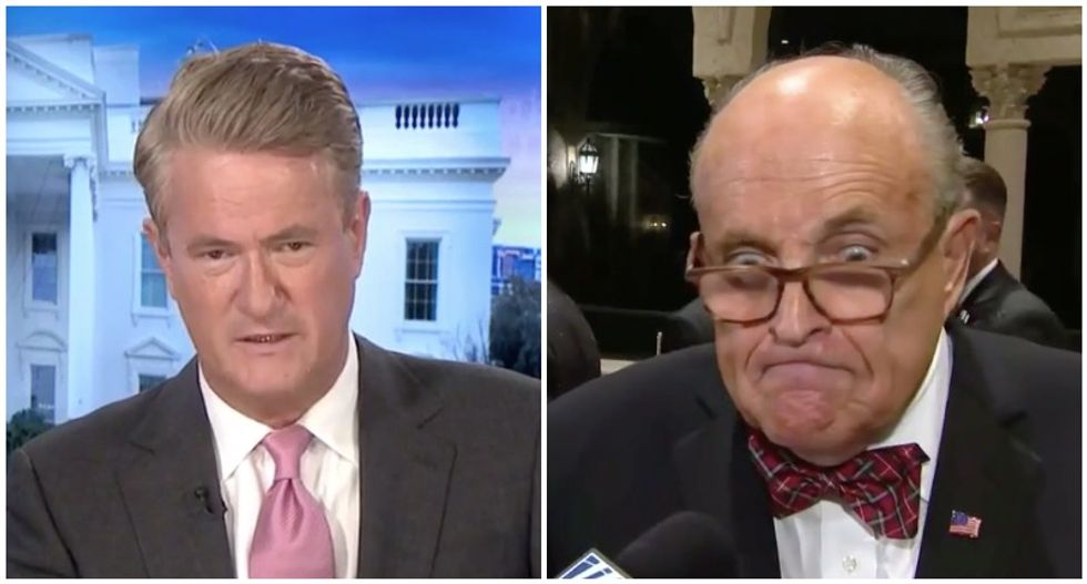 'I'm so confused': MSNBC's Joe Scarborough tries to untangle Rudy Giuliani's 'racketeering' rant