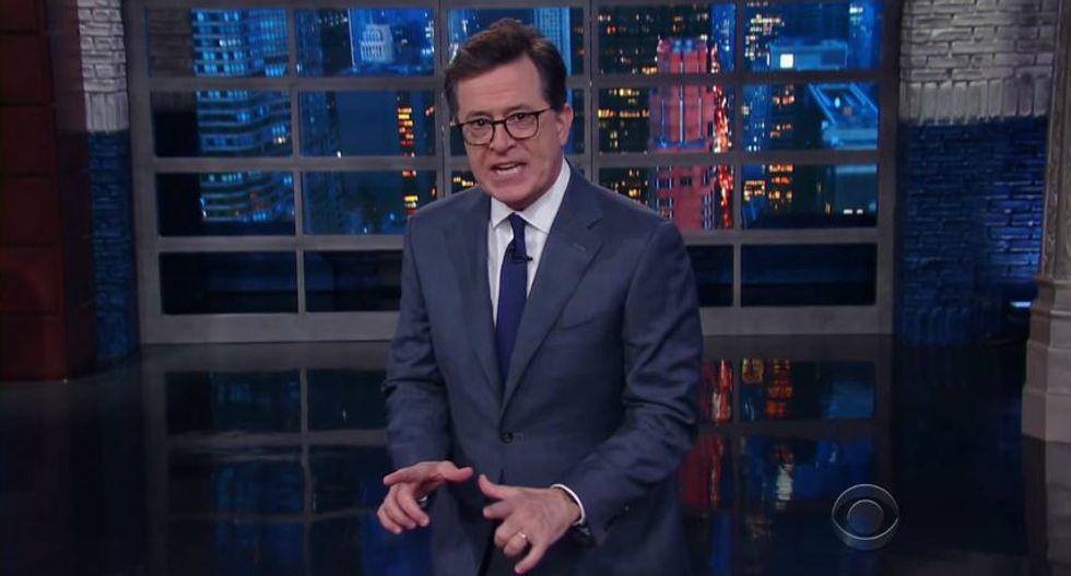 'He drove America's moral leadership through the guardrails': Colbert slams Trump's 'good people' Nazi defense