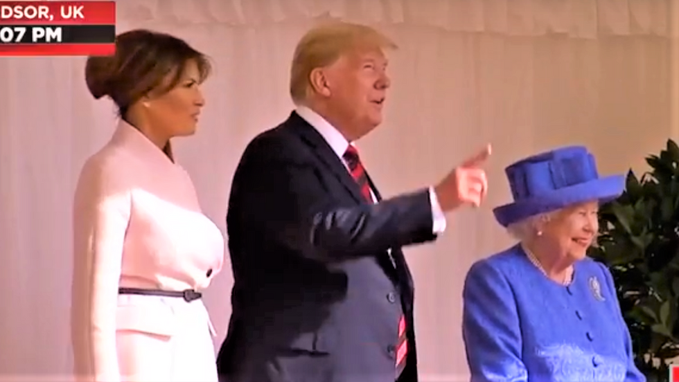 Trump 'only cares' about meeting royal family and is 'oblivious' to UK political chaos: report