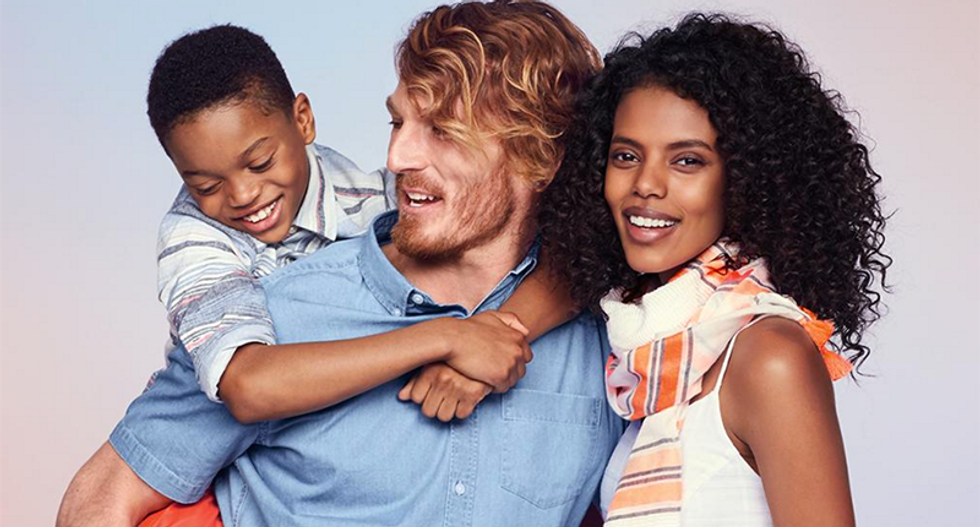 Racist Twitter clutches its pearls because Old Navy tweeted an interracial family