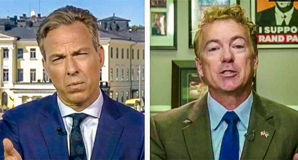 WATCH: Stunned Jake Tapper explains why NATO exists to a Russia-defending Rand Paul