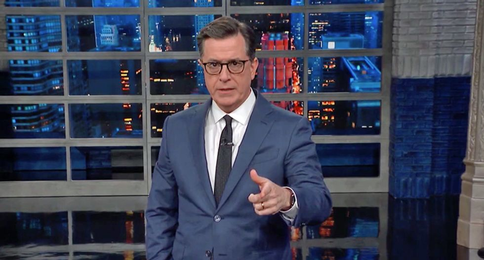 'You're a monster!' Stephen Colbert rips Trump for bragging about coronavirus response