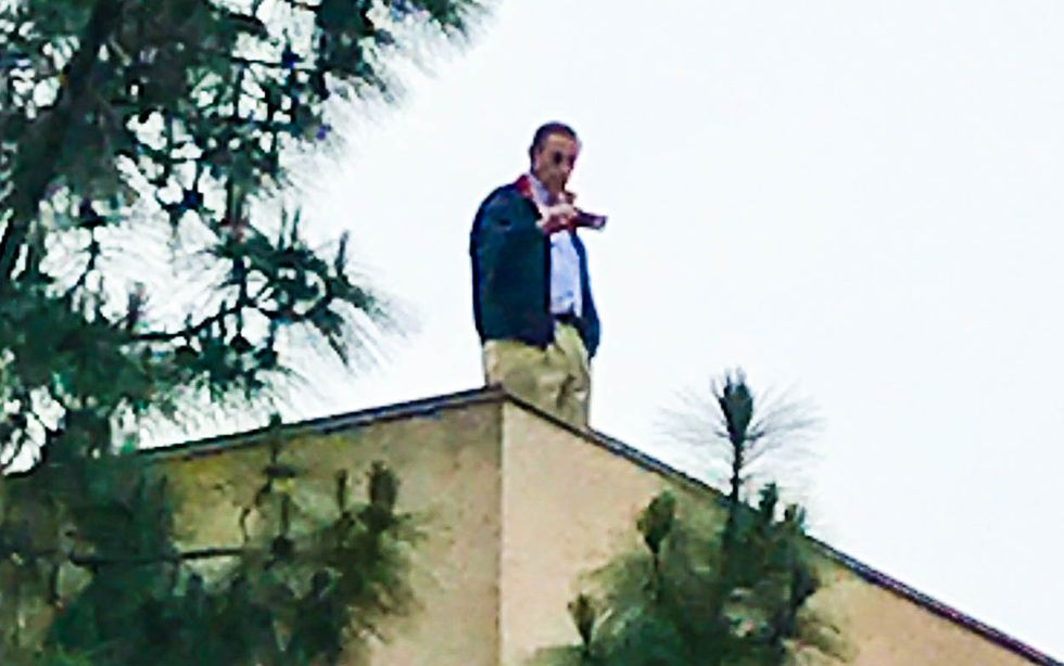 Endangered GOP lawmaker Darrell Issa hides out on roof while avoiding angry constituents