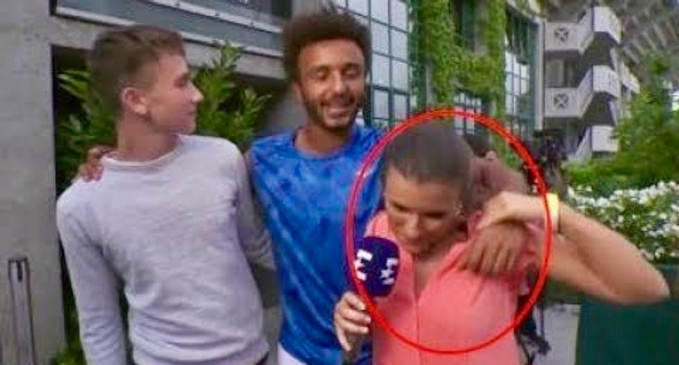 French player banished from French Open for groping journalist on live TV