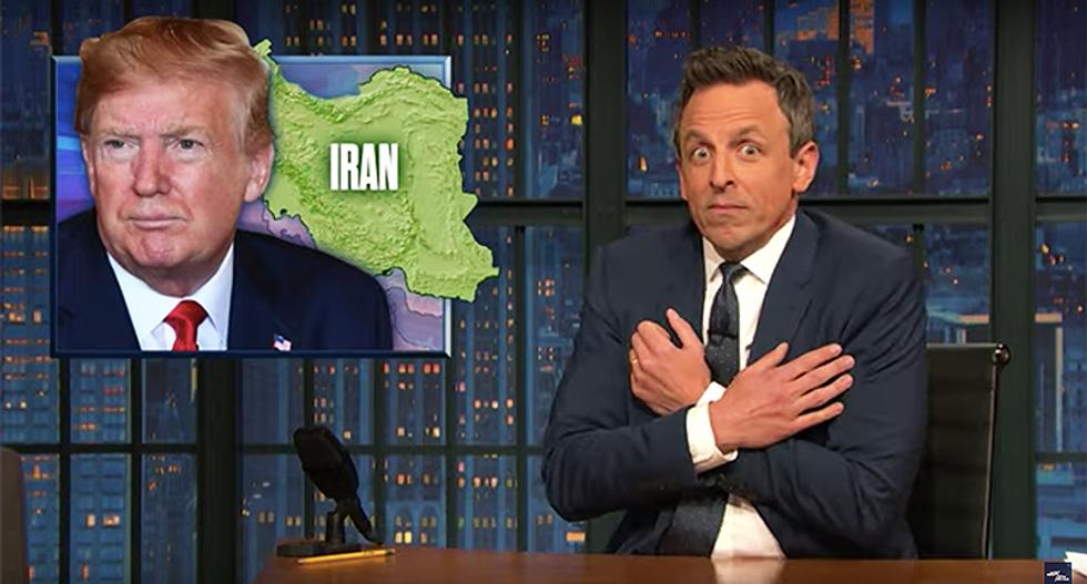Seth Meyers does epic super-cut of Trump's sniffling, stuttering mess of a speech
