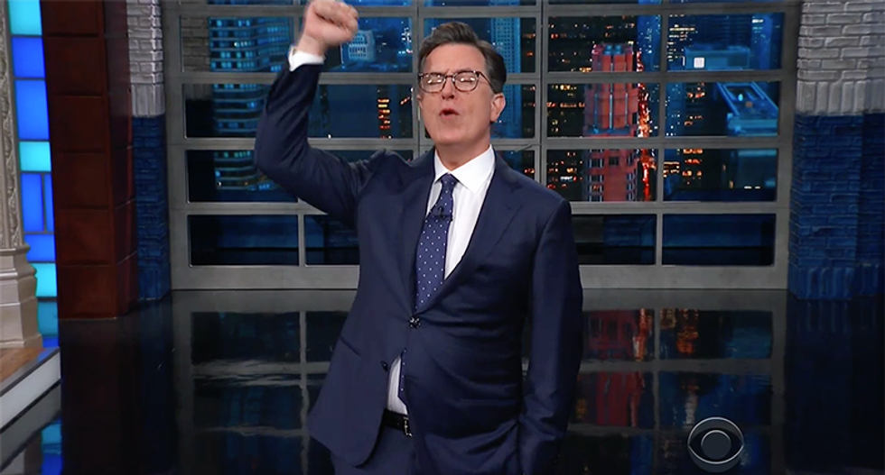 Colbert hilariously mocks Trump's switcheroo: 'And on that bus I said respect her by the p*ssy'