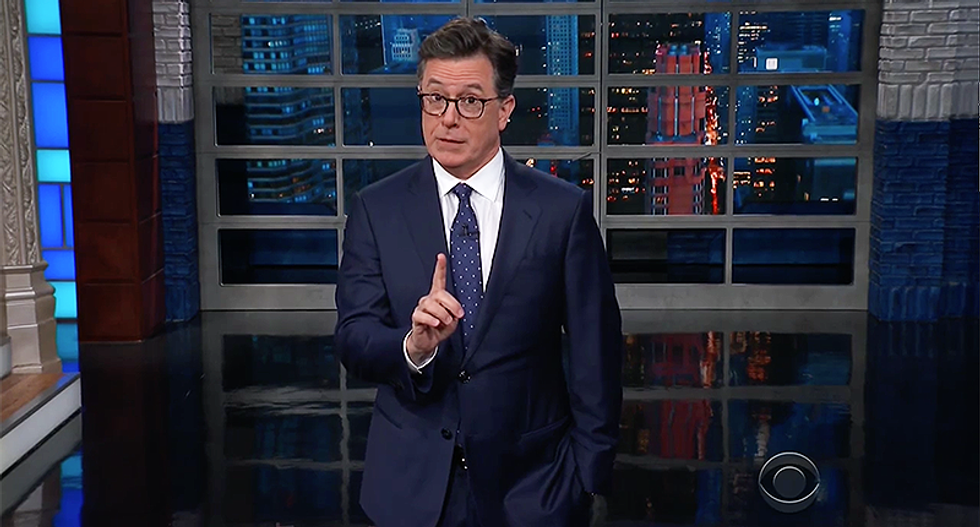 WATCH: Stephen Colbert has a hilarious reason why people 'can't blame Trump' for skipping out on veterans due to rain