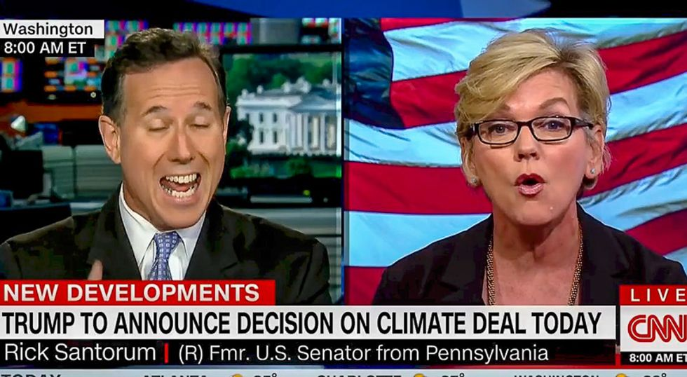 Rick Santorum stuns CNN panel while mansplaining renewable energy: The Sun is not 'reliable' or 'consistent'