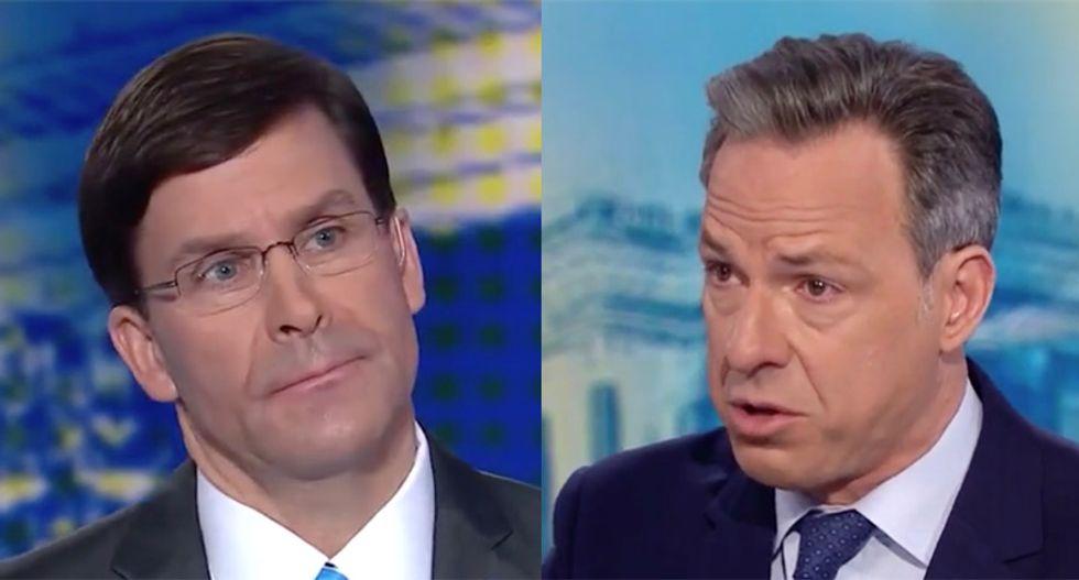 CNN's Tapper puts Defense Secretary Esper on the spot over Trump claim four embassies were targeted