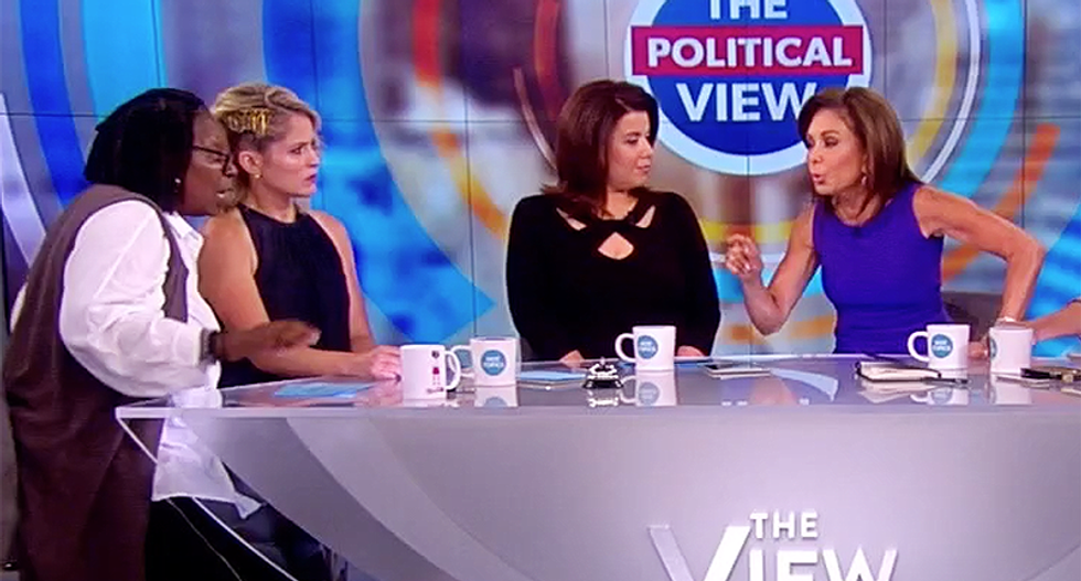 The View's Whoopi Goldberg abruptly ends Fox News' Judge Jeanine Pirro interview after screaming match: 'I'm done'