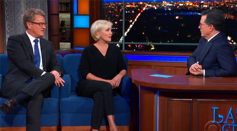 MSNBC's Joe Scarborough slams GOP for selling their souls to Trump in Colbert interview