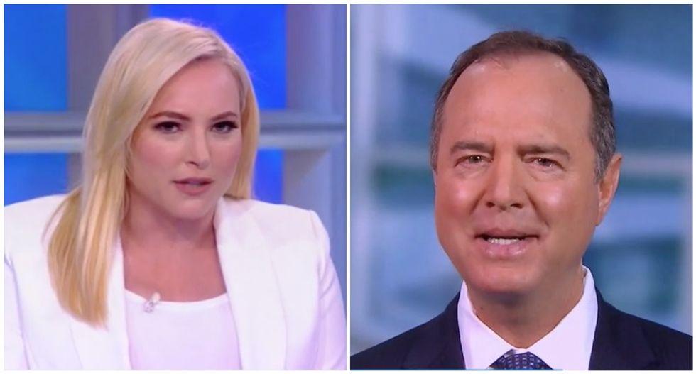 The View audience roars as Adam Schiff criticizes Meghan McCain on Trump impeachment