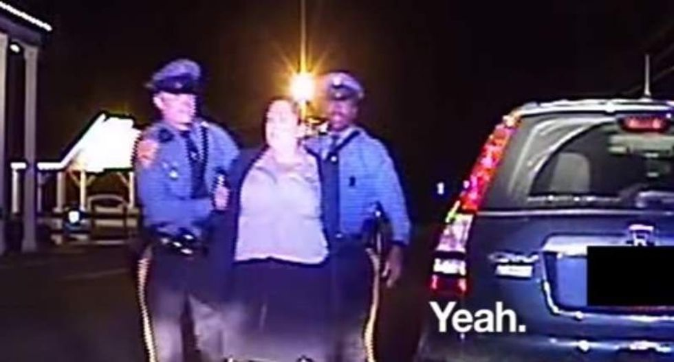 New Jersey woman exercises right to remain silent -- and state troopers arrest her anyway