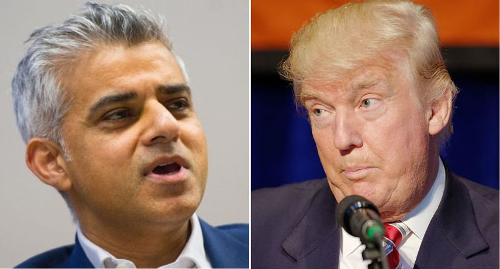 London Mayor Sadiq Khan: Trump's promotion of 'vile extremists' is a 'betrayal' of relations with the UK