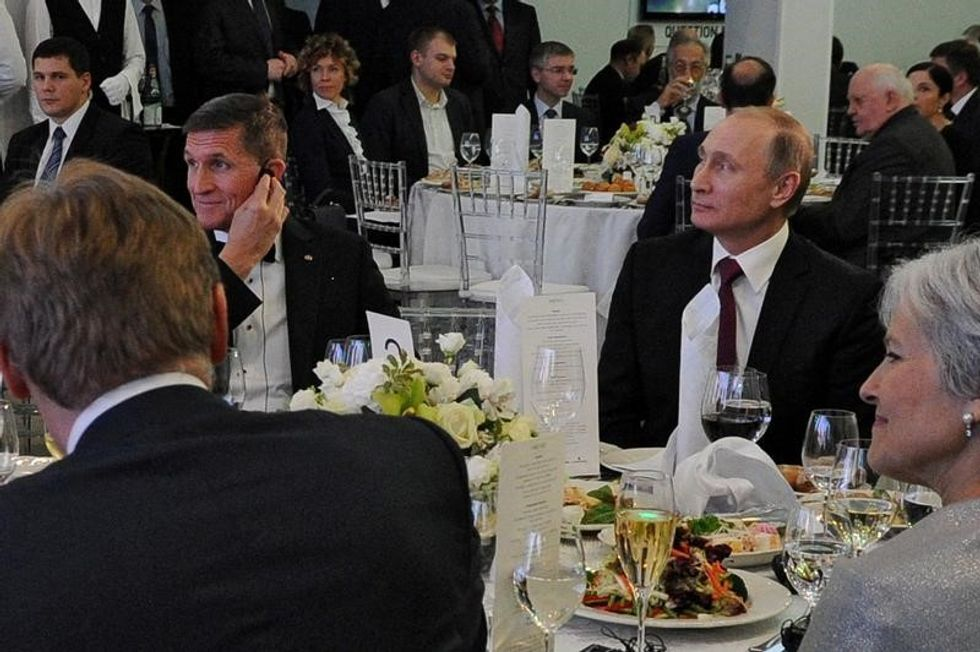 Putin's shrugs off dinner with Michael Flynn: 'I didn't even really talk to him'