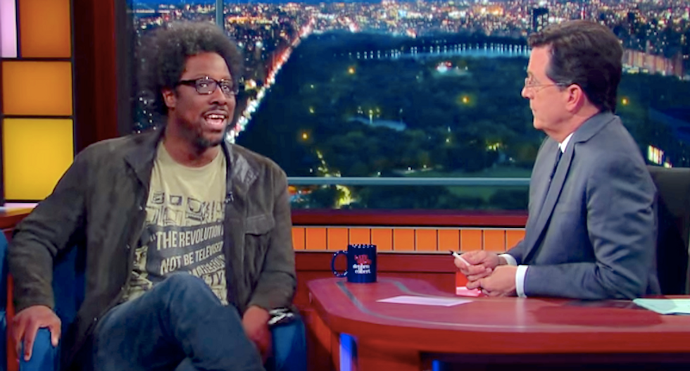 W. Kamau Bell tells Stephen Colbert why black people can't really be racist