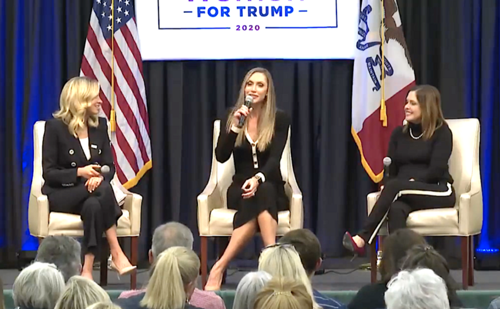 Lara Trump mocks Joe Biden's speech impediment at 'Women for Trump' event: 'Let's get the words out Joe'