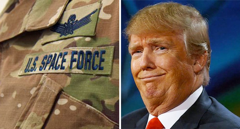 'Why do we need camo in space': Trump's Space Force ridiculed for woodland camouflage uniforms