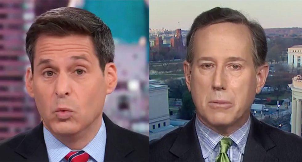 Rick Santorum flattened by CNN's Berman after calling Parnas bombshell revelations 'extraneous' to impeachment
