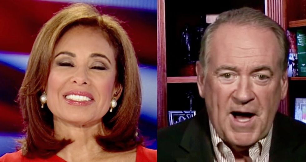 Mike Huckabee mocks Dan Coats' apology with Jeanine Pirro on Fox News: 'I want to know what caliber gun was being held to his head'