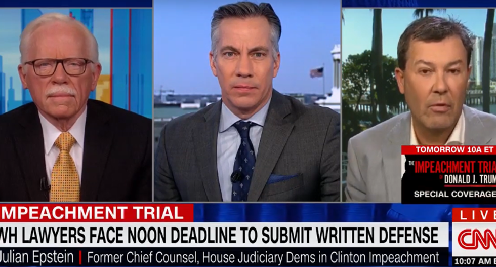 Ex-GOP impeachment manager ripped to shreds on CNN for 'upside down' defense of Trump's conduct