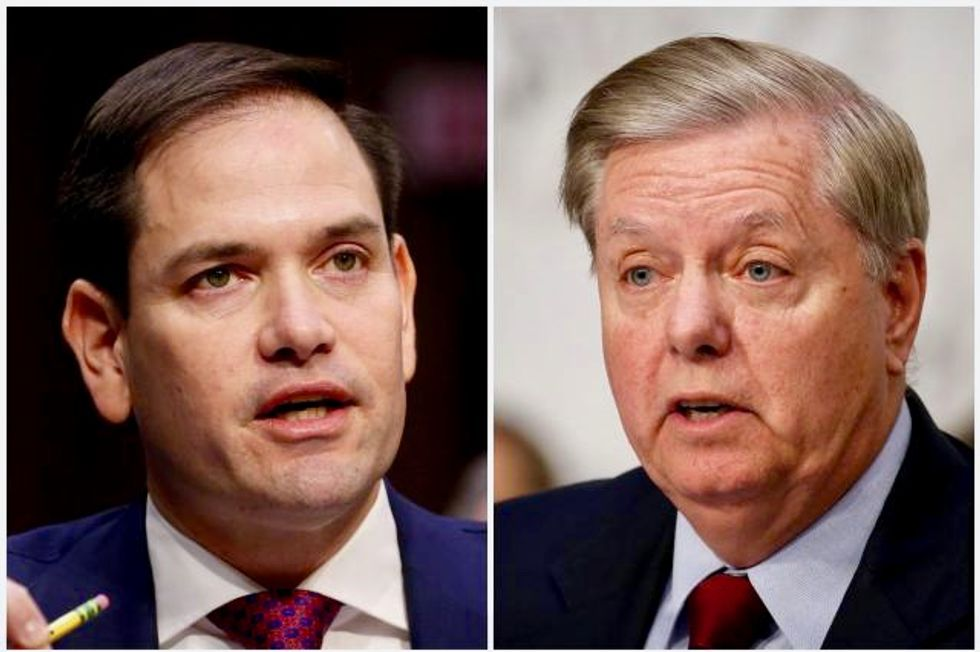 'Shameless' Lindsey Graham and Marco Rubio shredded by conservative for turning a blind eye to Trump's crimes