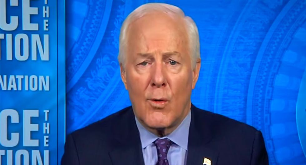 Texas GOPer Cornyn blames Trump's problems on campaign 'grifters' -- then calls Giuliani 'not relevant'