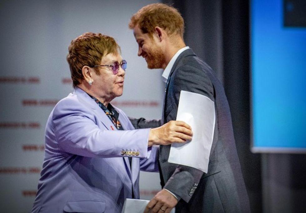 Elton John and Prince Harry launch bid to 'smash' AIDS stigma