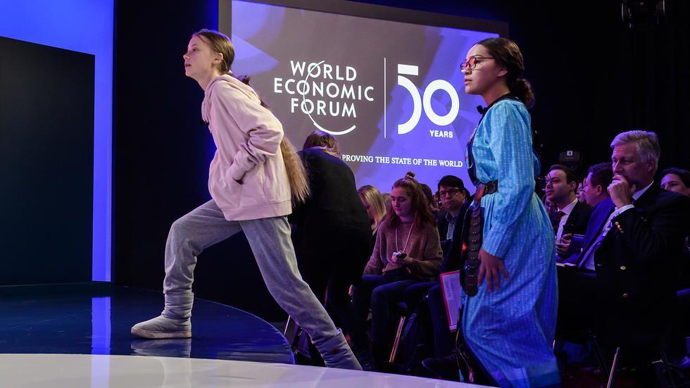 Greta Thunberg slams climate change inaction as Davos awaits Trump