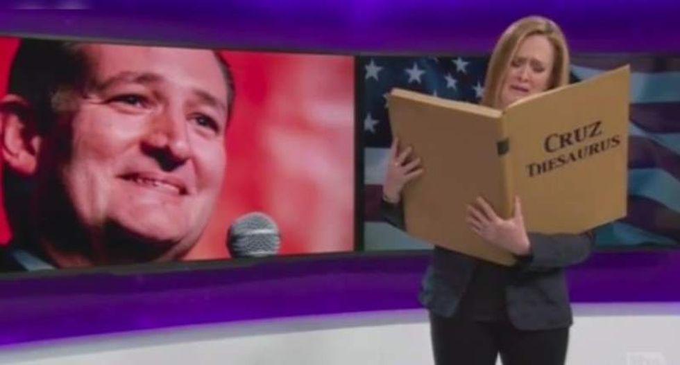 Samantha Bee says goodbye to Ted Cruz: 'Godspeed you fundamentalist swamp Reagan'