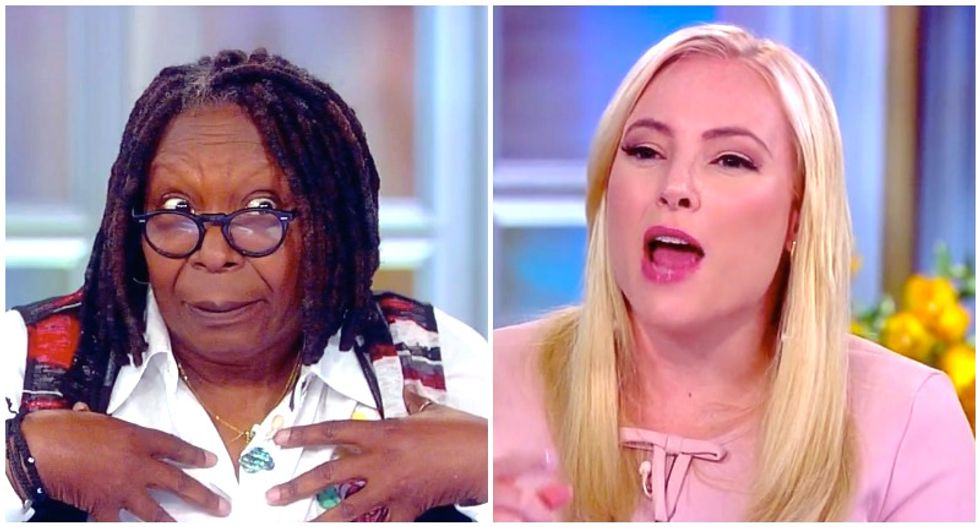 The View's Meghan McCain shrugs off Cohen tapes as proof Trump lied — and Whoopi Goldberg schools her