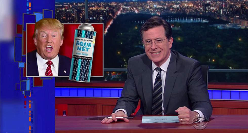 Colbert mocks Trump for telling coal miners not to vote — and then obsessing about his silly hair