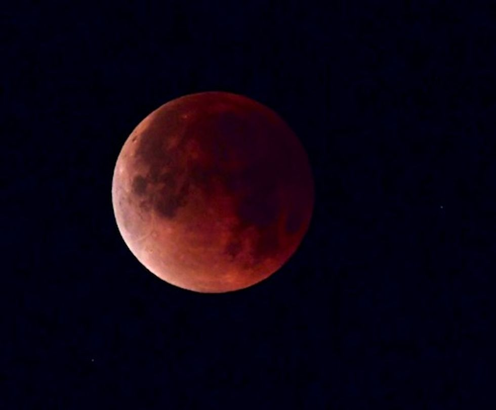 Red planet and 'blood moon' pair up to dazzle skygazers