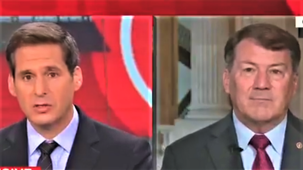 'Simply not news': GOP senator wriggles away from CNN host's questions about Trump-Cohen tape