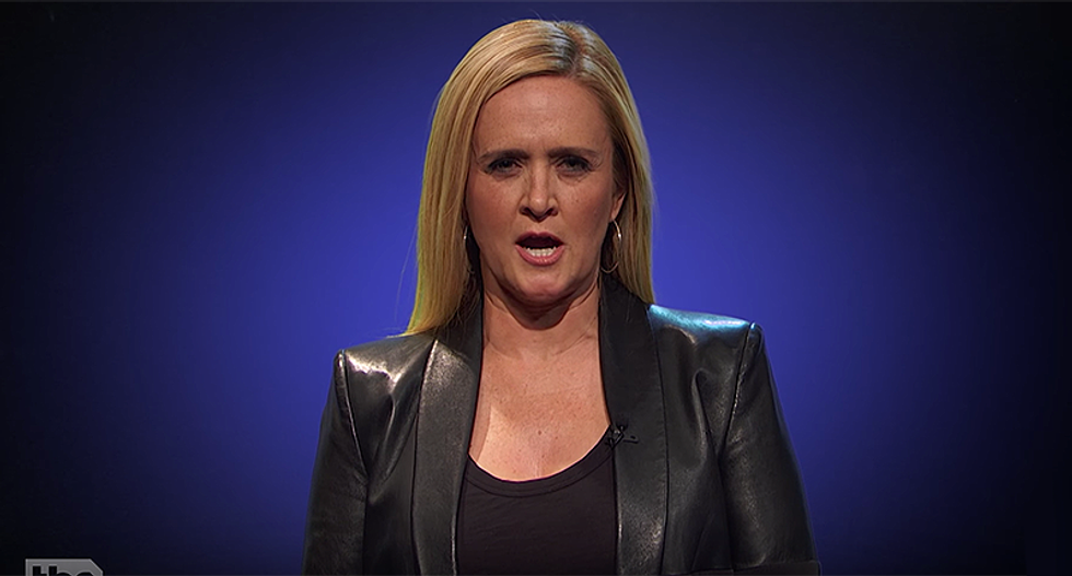 Sam Bee does her own threatening NRA-esque video: 'You're caught associating with one Russian agent and you disappear?'