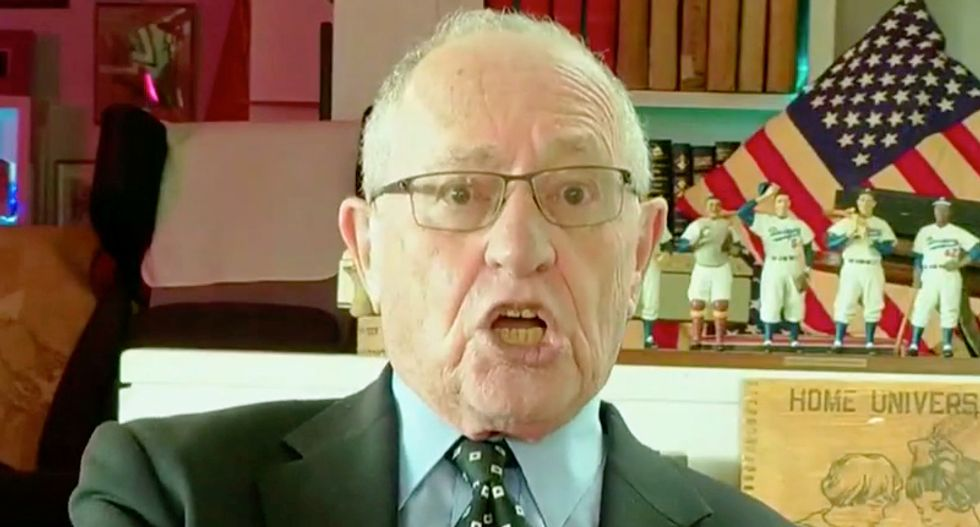 Alan Dershowitz mocked for defensive tweet after he's named in damning new Epstein documents