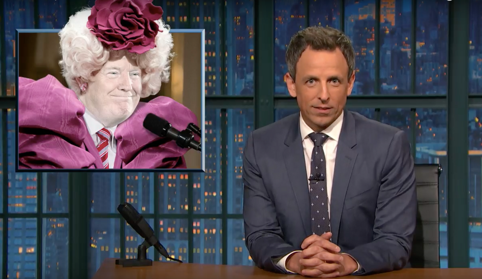 Seth Meyers: Trump so out of bounds, he's now 'your druggie cousin who can no longer surprise you'