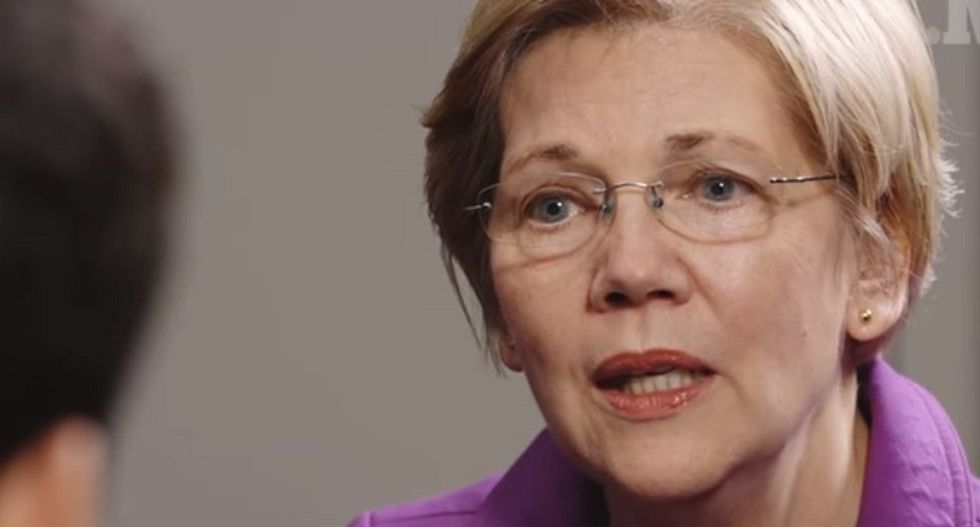 Elizabeth Warren laughs at Trump's wimpy insults: 'That's the best you could come up with?'