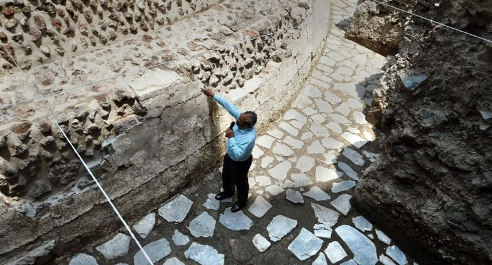Ancient Aztec temple and ball court found in Mexico City