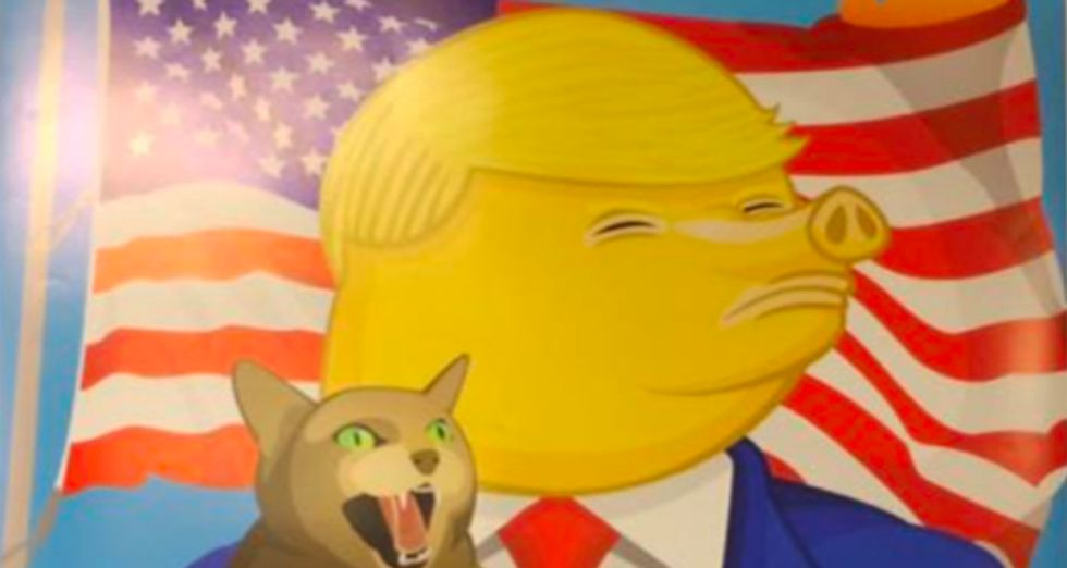 High school students' paintings mocking Trump removed from New Jersey art exhibit