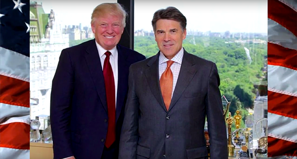 Rick 'Hemorrhoids' Perry endorses Donald 'Ass Cancer' Trump in hilarious fake campaign ad