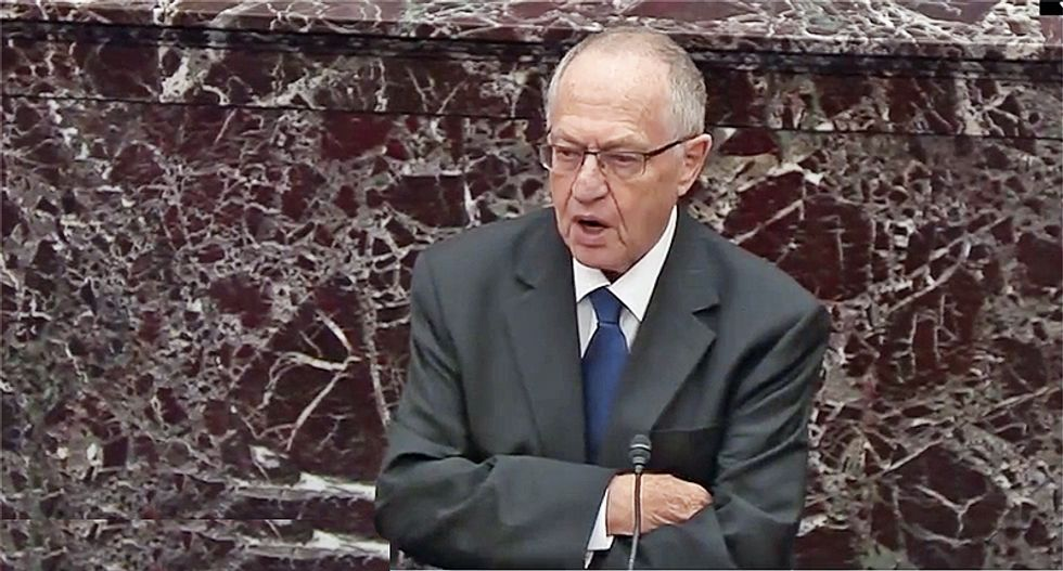 Dershowitz brutally mocked for 'absurd' claim its not a quid pro quo if presidents believe their re-election is in public interest