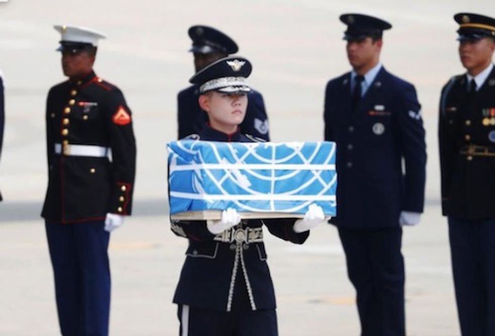 US says remains provided by North Korea likely American