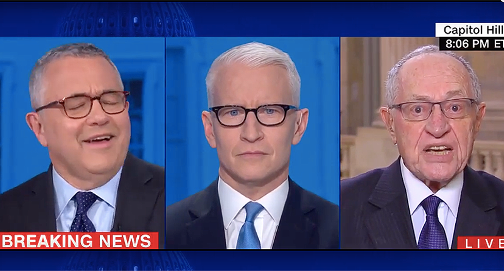 'You are wrong!' CNN's Jeffrey Toobin obliterates Alan Dershowitz for insisting presidents can abuse power