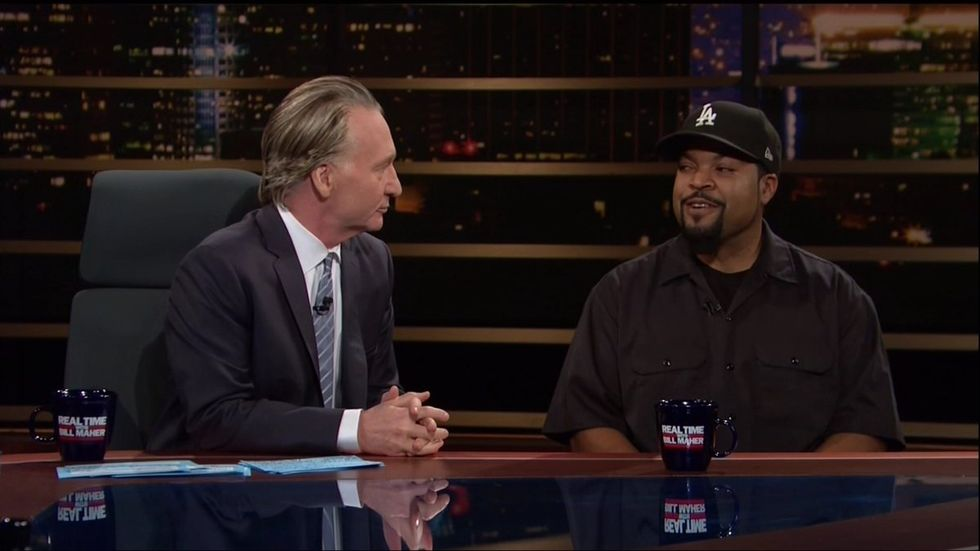 'That's our word now': Ice Cube explains to 'redneck trucker' Maher why he can't casually use racial slurs