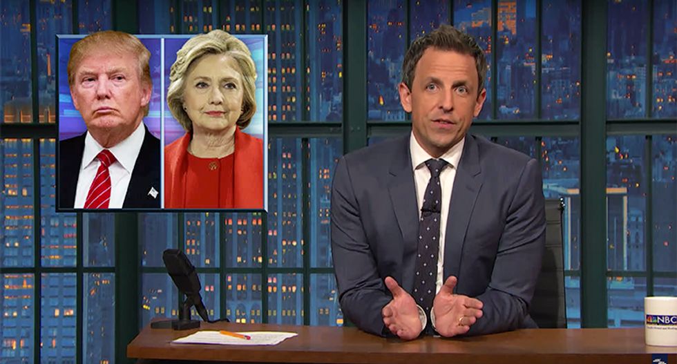 Seth Meyers: Racists love 'not racist' Trump — and there are enough racist voters to elect him